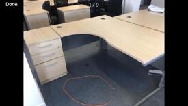 4 x Sven christian branded desks with side draws just £65 each
