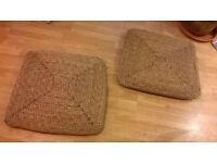 Seagrass floor cushions or matts