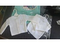 Girls white cardigans new ex shop stock
