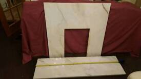 Marble hearth and fire surround