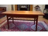 mid century danish design teak metamorphic coffee/dining table