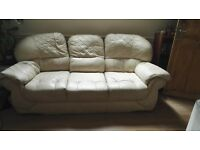 Cream leather sofa for free