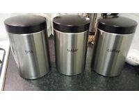 Tea, Coffee and Sugar Brabantia Containers