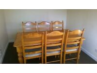 Dining Table / 6 Chairs