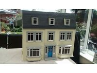 3 Storey Modern/Georgian Handmade Wooden Dolls House