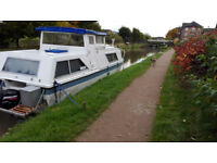 GRP Cruiser River Boat For Sale - 26ft fully fitted out and operational