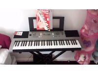 Yamaha PSR E353 keyboard with stand and stool