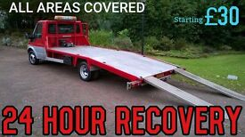 CAR BREAKDOWN RECOVERY 24 HOUR London nationwide. Cheap Flat battery jump, accident collection bike