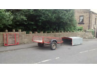 6x4 trailer, sturdy, removable steel hood, versatile, general purpose or for small livestock