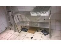 Stainless steel catering shelving unit excellent central London bargain