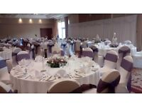 Special offer - chair covers with sash only £1 Wedding package, backdrop, centrepieces, candycart