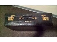 Leather Suitcases Luggage like Vuitton retro suitcase