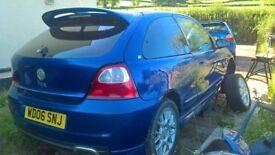 MG ZR tinted rear windows