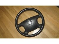 Jaguar S-Type Steering Wheel Black Leather with Airbag. 02-08. Excellent condition.