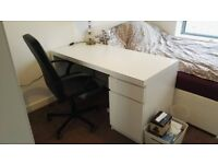 1 year old IKEA MALM writing desk, very good condition. Must be collected by buyer.