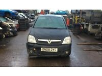 2008 Vauxhall Meriva Design MPV 1.6 Petrol Black BREAKING FOR SPARES