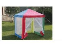 KIDS CHILDREN MULTICOLOUR GAZEBO TENT
