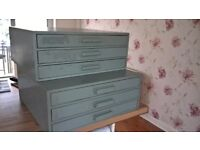 Two storage units,ideal for craft /hobby spare parts or smallcollectables. 108 or 27 compartments