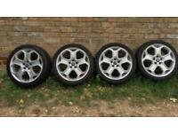 "FORD 18"" Zetec 5x108 alloys and partworn 225/40/18 tyres"