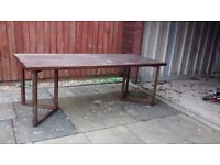 220cm by 90cm Dining table