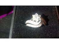 Bridal set 9ct white gold,3/4ct diamond.