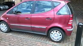 2001 Mercedes A160 Automatic. Only 59k Genuine miles. New MOT 2 weeks ago.