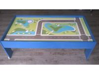 Wooden play table.