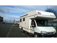 REDUCED 6 Berth Euramobil 2.8JTD U shaped lounge