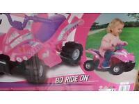 Baby girls electric quad bike new unopened suit 2 years plus