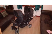 Graco Stadium Duo Double Pushchair/buggy with rain cover Excellent Condition - Hardly Used