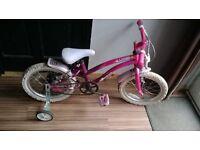 "apollo popstar bike 16"" wheels with stabilisers"