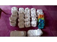 Little Lamb size 1 bamboo reusable nappies bundle x 22