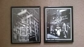 2 Black and White Pictures from New York City