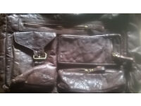 Mens (Ladies) Brown Leather Shoulder Bag, V.G.C, Lots Of Useful Storage