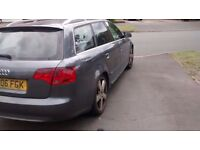 Audi A4 Avant 2006 S Line with Black leather interior selling as SPARES OR REPAIRS