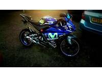 Yamaha Yzf r125, custom decals, delivery available