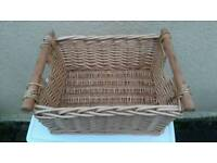 Bundle of basket and 4 wood boxes