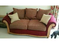Sofa bed. Marks and Spencer. Cranberry fabric. Metal action. Excellent quality