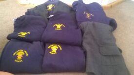 Nafferton school uniform bundle inc jumpers, trousers, shorts and school fleece