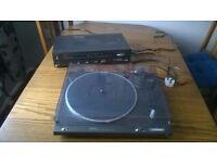 Technics SL-B210 Turntable & Receiver SA-110L Spares or Repair