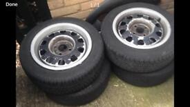 4x100 g60 rep wheels with tyres and be centre caps