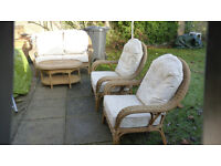 settee and two chairs