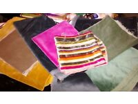 Bundle of velvet/velour fabric pieces