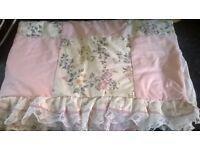Vintage patchwork duvet cover and pillow case