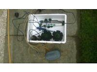 fish tank stuff 4 heaters 2 air pumps £20