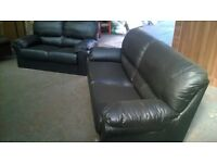 Brand New Luxury Leather 3-2 Seater Sofas Unused Still Packaged Genuine Reason For Sale Can Deliver