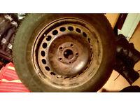 Steel wheel plus tyre (195/65/R15) some wear
