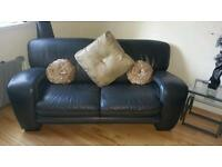 2 Vogue leather sofas
