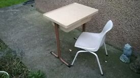 Kids vintage desk and chair