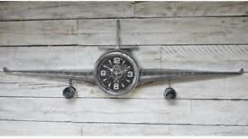 Large fighter plane clock